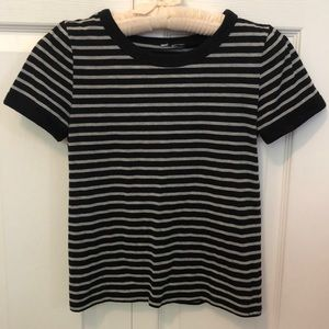 Striped Short-Sleeved Top